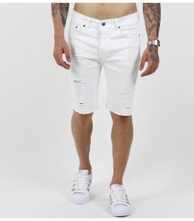 Βερμούδα jean με σκισίματα K048