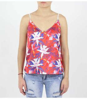 Floral top με τιράντα 20176228