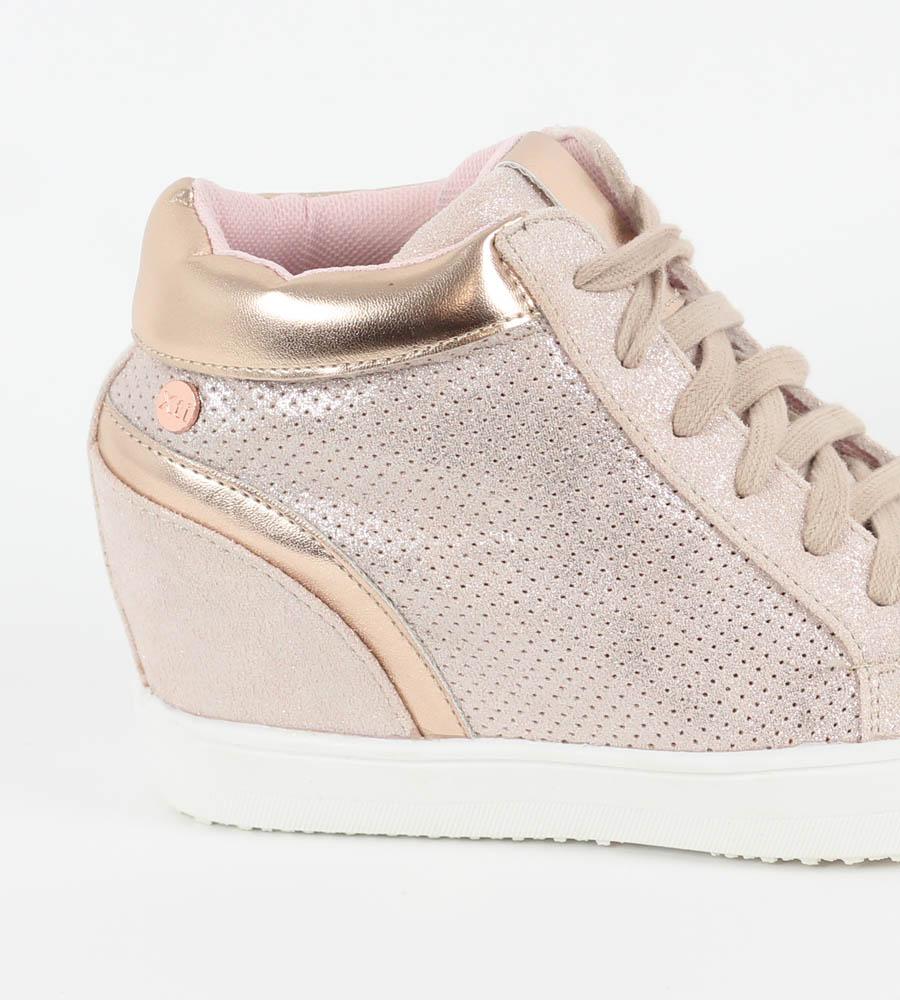 b0147406a2f Sneakers γυναικεία suede με εσωτερικό τακούνι και κορδόνια