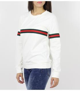 Μπλούζα φούτερ γυναικεία 3 stripes D6243