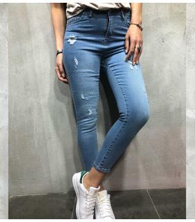 Παντελόνι jean γυναικείο ψιλοκάβαλο B002