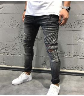 Παντελόνι jean damages B3087