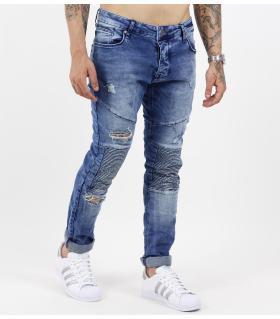 Παντελόνι jean σκισίματα γαζιά B3249