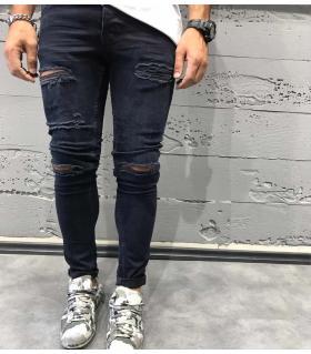 Παντελόνι jean slash B3374