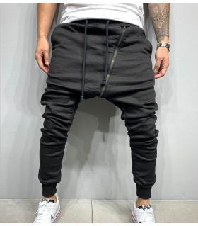 Παντελόνι ανδρικό baggy zip B5454