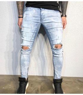 Παντελόνι jean ανδρικό slash & paint BL1079