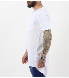 Tshirt ανδρικό long με τσεπάκι BL11809
