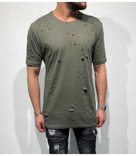 T-shirt ανδρικό damaged & holes BL11842