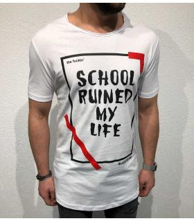 T-shirt ανδρικό -school ruined my life- BL11853