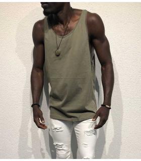 Αμάνικο ανδρικό Tshirt μονόχρωμο BL11913