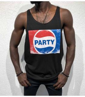 Αμάνικο ανδρικό Tshirt - party - BL11915