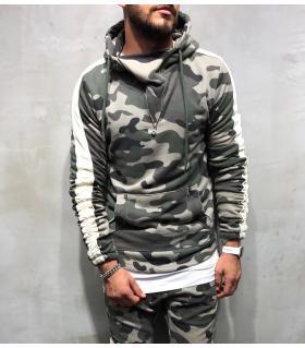 Μπλούζα φούτερ ανδρική με κουκούλα BL18033