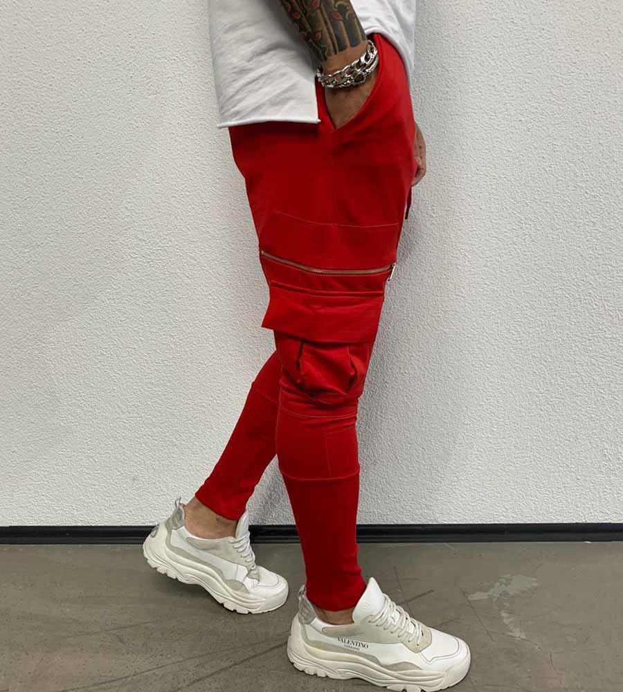Παντελόνι φόρμα zip & pockets με λάστιχο BL18040