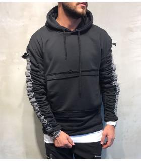 Μπλούζα φούτερ ανδρική με κουκούλα BL18044