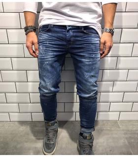 Παντελόνι jean ανδρικό splash & damaged BL1806
