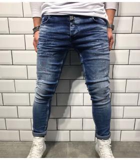 Παντελόνι jean ανδρικό damage & mini colour splash BL1812
