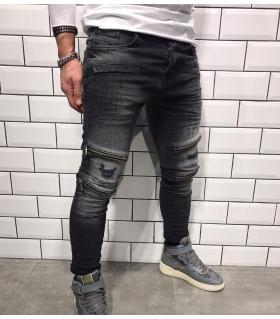 Παντελόνι jean ανδρικό slash & zips BL1813