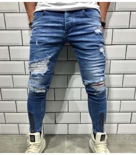 Παντελόνι jean ανδρικό slash & zip BL1827