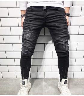 Παντελόνι jean ανδρικό slash & zip BL1827A