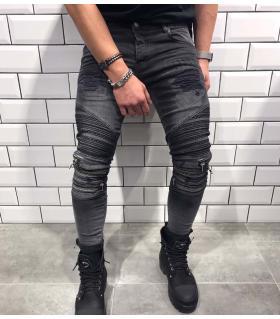 Παντελόνι jean ανδρικό slash & zips BL1840