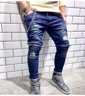 Παντελόνι jean ανδρικό slash & zips BL1841