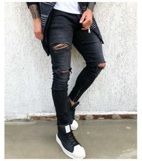 Παντελόνι jean ανδρικό slash & zips BL1859