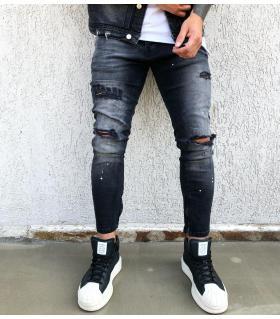 Παντελόνι jean ανδρικό slash & color splash BL1871