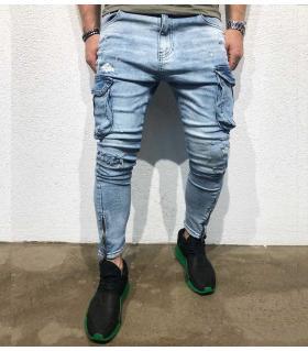 Παντελόνι jean ανδρικό stonewash & pockets BL1873