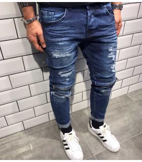 Παντελόνι jean ανδρικό Slash & Zip BL1805