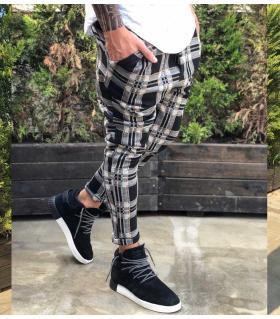 Παντελόνι ανδρικό καρό stripes BL1906