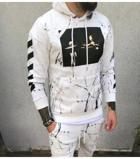 Μπλούζα φούτερ ανδρική με κουκούλα BL22006