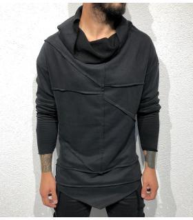 Μπλούζα φούτερ ανδρική με κουκούλα BL22040