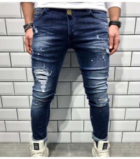 Παντελόνι jean ανδρικό slash & mini colour splash BL3190