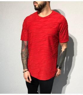 T-shirt ανδρικό ανάγλυφο σχέδιο BL31926