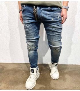 Παντελόνι jean ανδρικό big zip BL3196