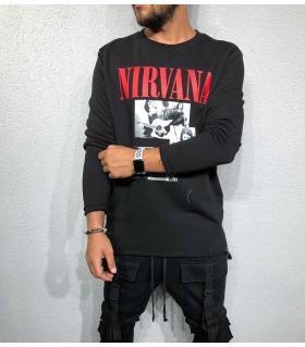 Μπλούζα φούτερ ανδρική -nirvana- BL32081