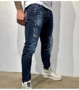 Παντελόνι jean ανδρικό slash & color splash BL3278