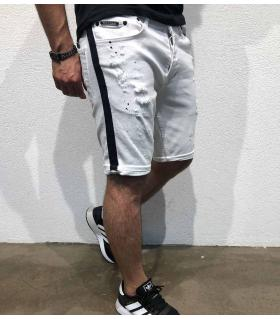 Σορτς jean ανδρικό black stripe BL3316