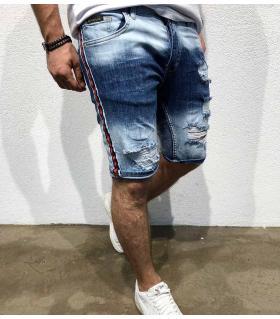 Σορτς jean ανδρικό stripes BL3321