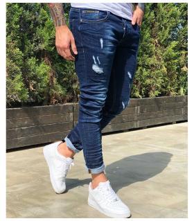 Παντελόνι jean ανδρικό damages BL3332