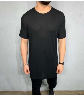 T-shirt ανδρικό long μονόχρωμο BL41081