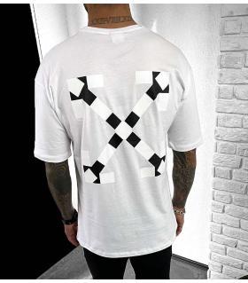 T-shirt ανδρικό double print X BL41114