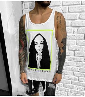 Αμάνικο ανδρικό Tshirt -Nun- BL41128