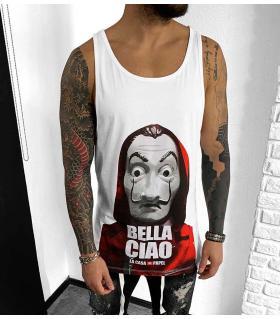 Αμάνικο ανδρικό Tshirt -BELLA CIAO- BL41132