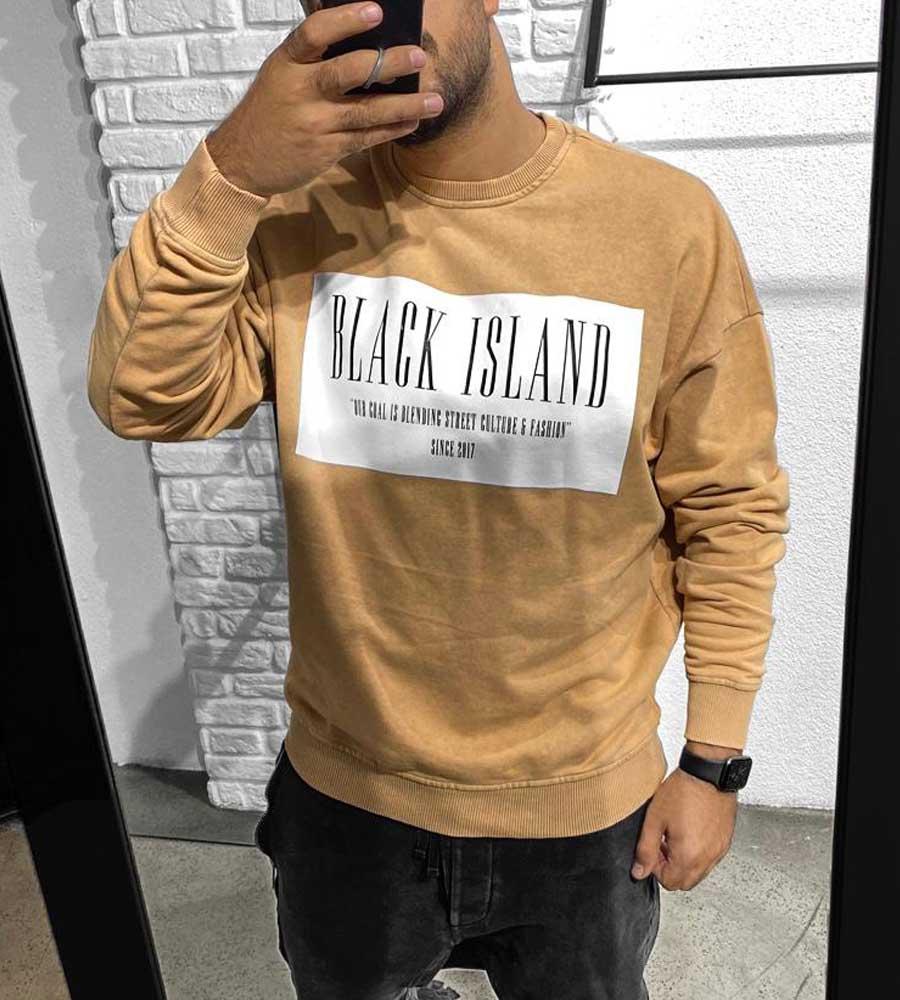 Μπλούζα φούτερ -black- BL41174