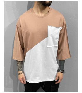 T-shirt ανδρικό ασύμμετρο oversized BL41217