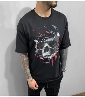 T-shirt ανδρικό oversized -Skull- BL41218