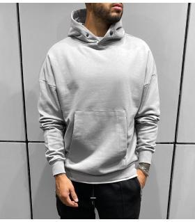 Μπλούζα φούτερ oversized με κουκούλα BL41284