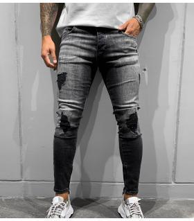Παντελόνι jean ανδρικό slash zip BL5237