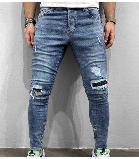 Παντελόνι jean ανδρικό slash zip BL5931